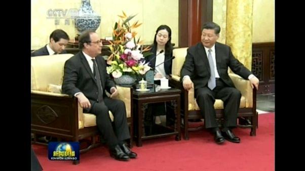 François Hollande en Chine