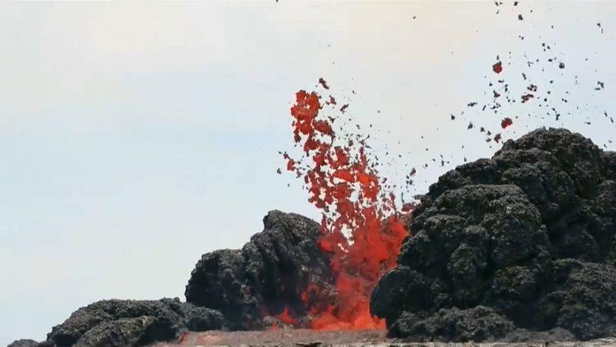 La actividad de la mayor fisura del volcán Kilauea comienza a remitir