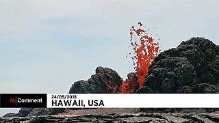Hawaii'deki volkan patlamaları sürüyor