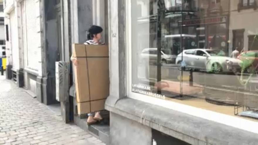 A Fabrika bútorüzlet Brüsszel belvárosában