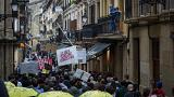 Fed up with tourists, locals in San Sebastian take to the streets