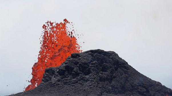 Erupção do vulcão Kilauea, no Havai