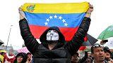 مواطنون فينزويليون في كولومبيا يتظاهرون احتجاجاً على الانتخابات الفنزويلية