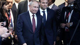 Macron e Putin acertam agulhas com divergências à margem
