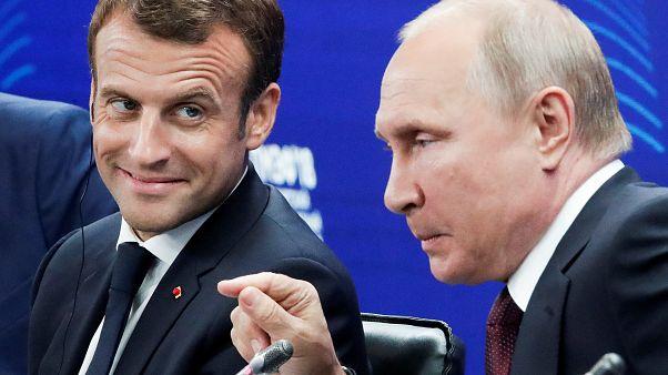 France-Russie : Macron rassure les milieux d'affaires