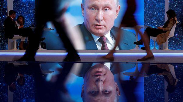 Wladimir Putin beim Internationalen Wirtschaftsforum