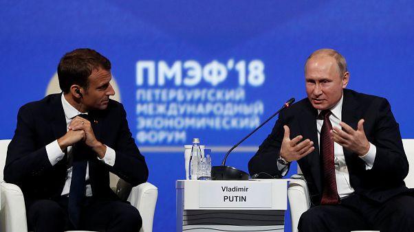 Macron'un SPIEF'e katılımı Rusya'yı memnun etti
