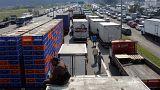 Estradas do Brasil bloqueadas pelos protestos dos camionistas