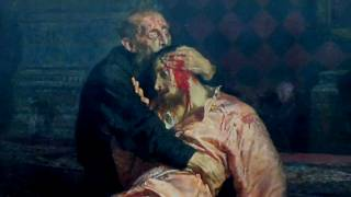 """لوحة """"إيفان الرهيب يقتل ابنه"""" للفنان إيليا ريبين"""
