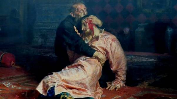 """Ivan the Terrible and His Son Ivan on November 16, 1581"" by Ilya Repin"