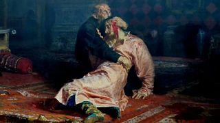 Quadro Ivan o Terrível e seu filho Ivan em 16 de novembro de 1581