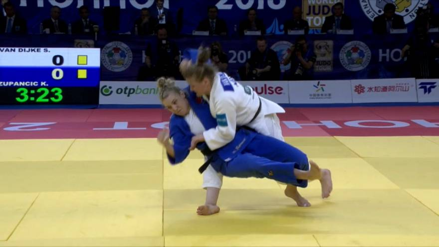 Sanne Van Dyk y Japón destacan en la segunda jornada de judo en Hohhot