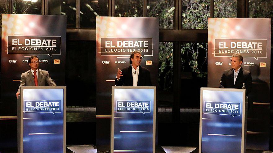 Die Kandidaten Gustavo Petro, Sergio Fajardo und Ivan Duque