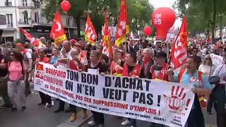 Tömegtüntetések Franciaországban