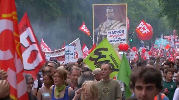 Protestwelle gegen Macrons Reformen