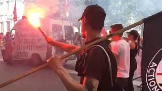Anti-government protest in Lyon