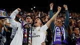 Noite de festa em Madrid com o 'tri' do Real Madrid