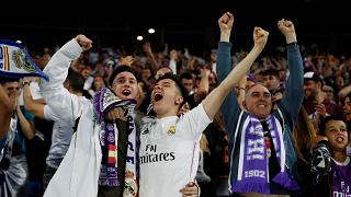 Noite de festa em Madrid com o 'tri' do Real Madrid