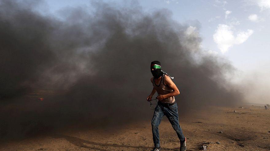 Palesztin halottak a Gázai övezetben