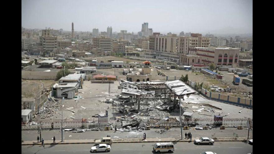 قتلى وجرحى في غارة للمقاتلات السعودية على محطة للوقود في صنعاء