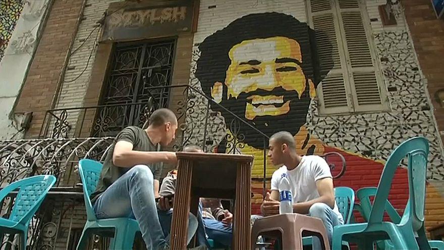 A Mohamed Salah mural in Cairo