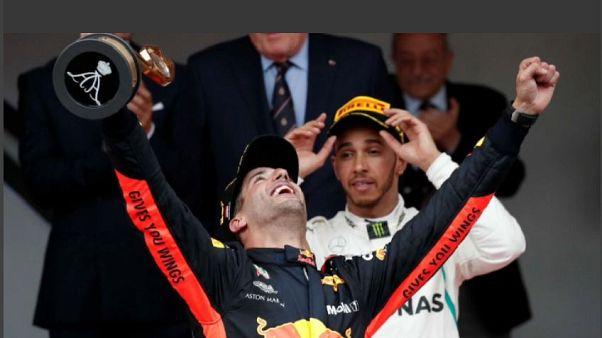 F1: a Montecarlo vince Ricciardo, secondo Vettel
