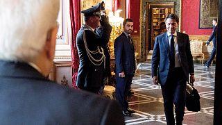 Джузеппе Конте встречается с Серджио Маттареллой
