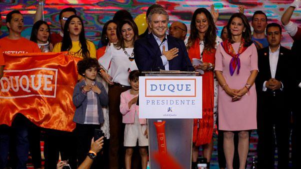 Duque e Petro na segunda volta das presidenciais