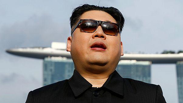 ظهور مفاجئ لكيم جونغ أون في سنغافورة