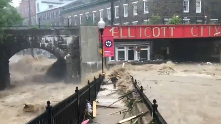 Estado de emergência em Maryland por causa de inundações repentinas