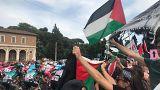 İtalya Bisiklet Turu'nda İsrail protestosu