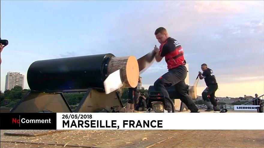 Les meilleurs bûcherons sportifs du monde réunis pour la première fois en France