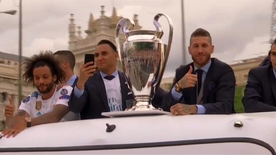 Real Madrid'de şampiyonluk kutlaması