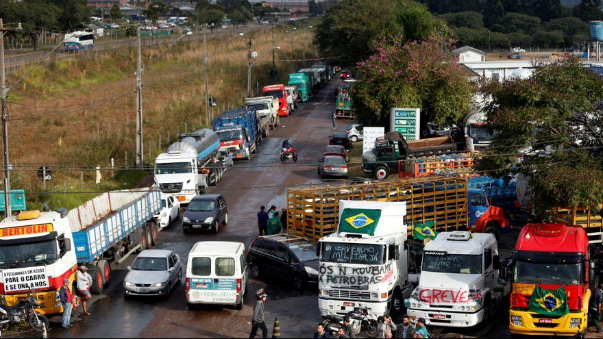 اعتصاب کامیوندارها در برزیل