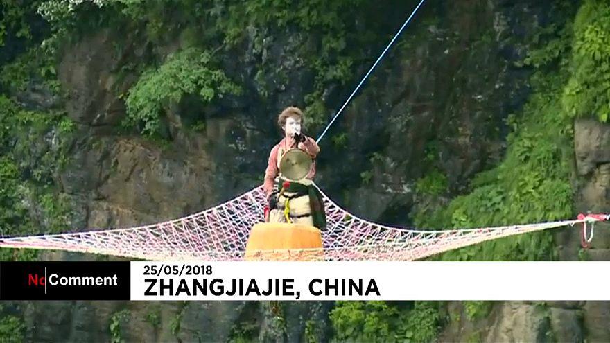 Un concert haut perché en Chine