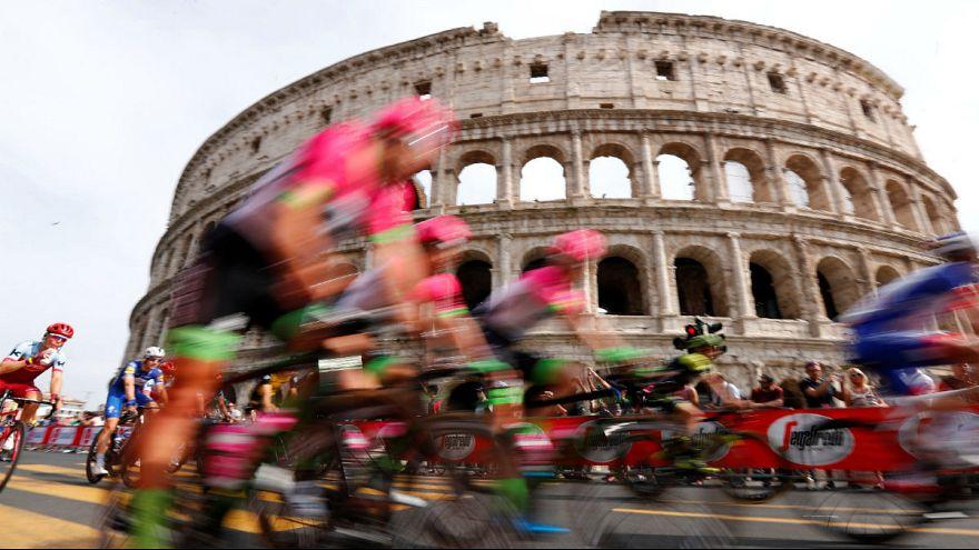 Izrael-ellenes tüntetés a Giro d'Italián