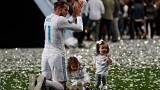Real Madrid celebrate Champions League victory in Bernabeu stadium