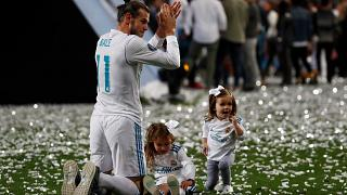Real Madrid celebrate Champions League victory in Bernabeu stadium