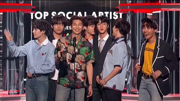 K-pop group BTS top US album charts