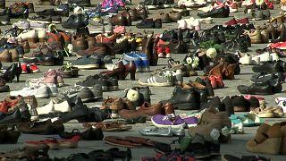Βέλγιο: 4,500 ζευγάρια παπούτσια για τα θύματα της Γάζας