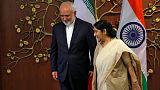 ملاقات محمد جواد ظریف و سوشما سوآراج، وزیر خارجه هند در دهلی نو