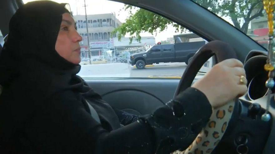 كفاح (أم علي) أول سائقة أجرة في العراق
