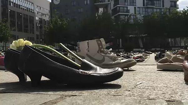 Zapatos por la paz en Oriente Medio