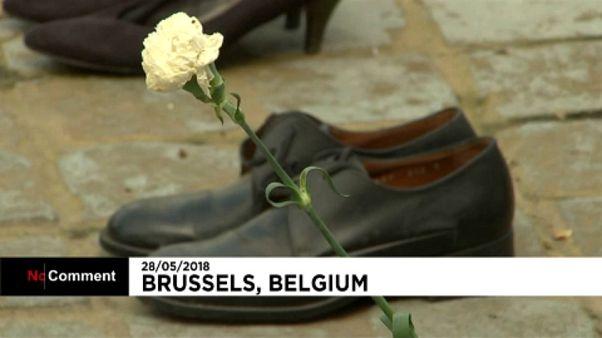 Minden cipő egy palesztin áldozatot jelképez