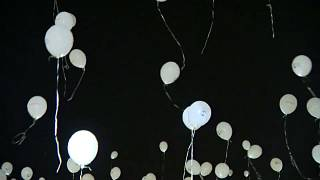 Thousands of balloons released for missing children in Hungary