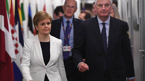 Scotland's First Minister Sturgeon meeting with EU's Michel Barnier