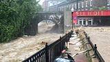 Usa: alluvione nel Maryland, le strade di Ellicott City un fiume in piena