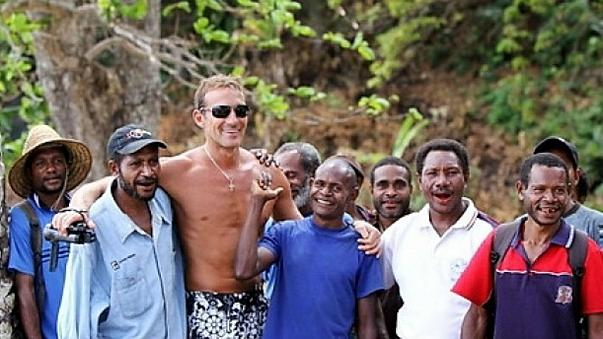 Radu Mazare, centre left, in a photo he sent Euronews from Madagascar