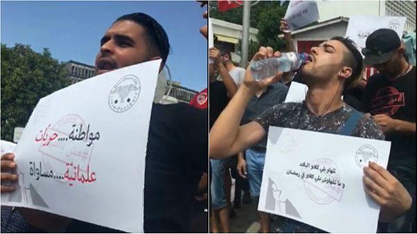 وقفة احتجاجية للمطالبة بحرية الإفطار في تونس