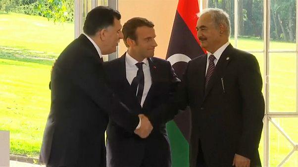 President Macron welcomes Libya's leaders